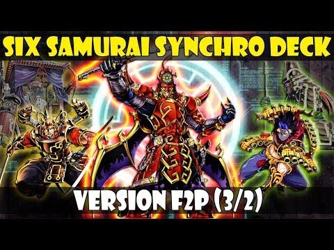 SIX SAMURAI/SEIS SAMURAIS SYNCHRO DECK | VERSION F2P (MONSTRUOS 3/2)  - DUEL LINKS