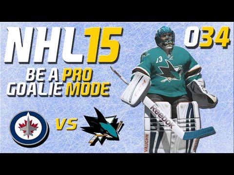 NHL 15 Torhütermodus [Be A Pro] #034 - Winnipeg Jets - San Jose Sharks ★ Let's Play NHL 15 Be a Pro