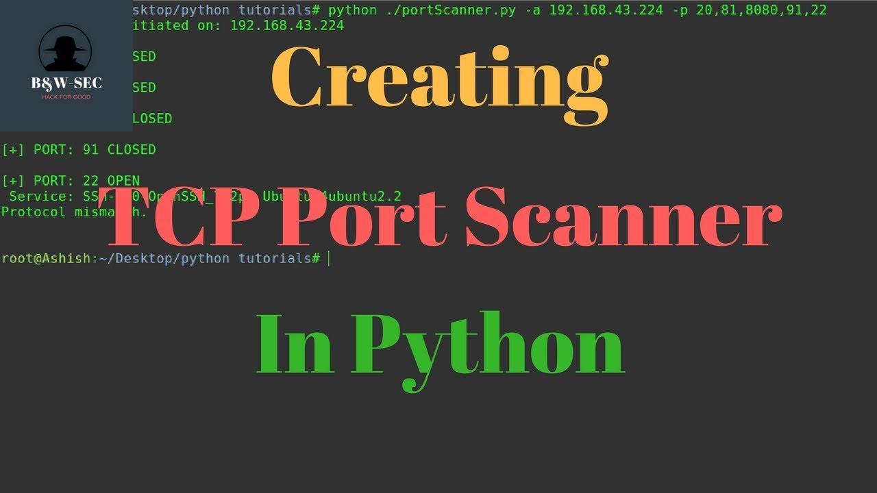TCP Port Scanner in python