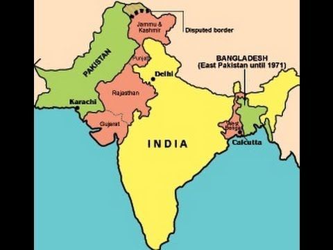 Map Of India And Pakistan Border.India Pakistan Partition 1947 Youtube
