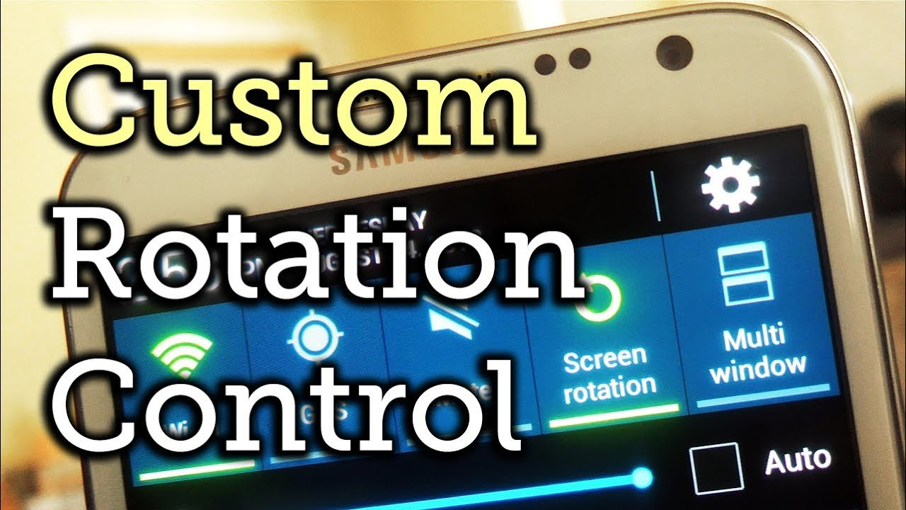 How to Control the Auto-Rotate Settings for Apps