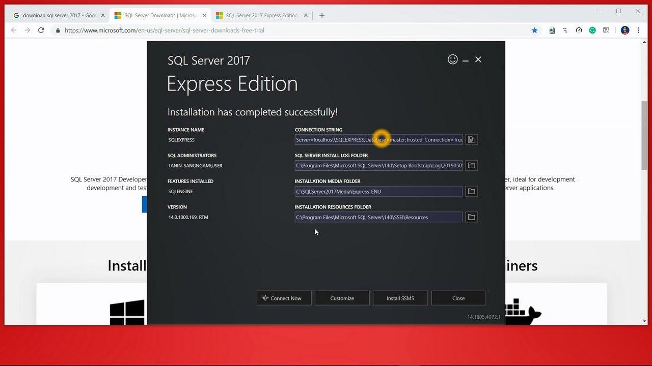 sql server express edition download