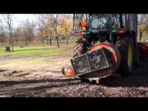 Pecan Tree Sweeper and Blower - YouTube