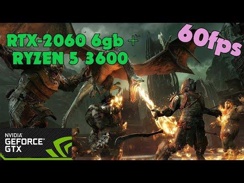 Middle-Earth: Shadow of War - RTX-2060 6gb + RYZEN 5 3600 - Ultra Settings - 60fps |