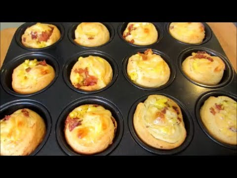 Bacon Egg and Cheese Breakfast Bites - YouTube