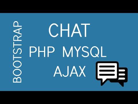 CHAT PHP MYSQL AJAX JQUERY