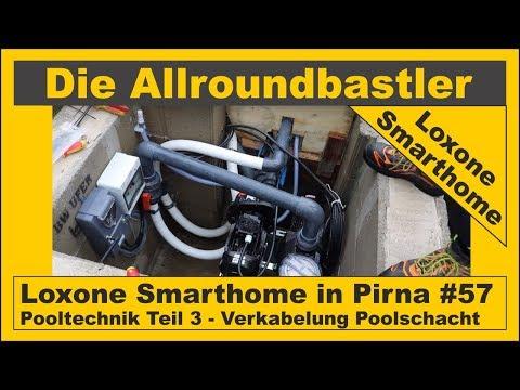 Loxone Smarthome - Fertiginstallation in Pirna #57 - Pooltechnik Teil 3 - Anschlüsse Poolschacht