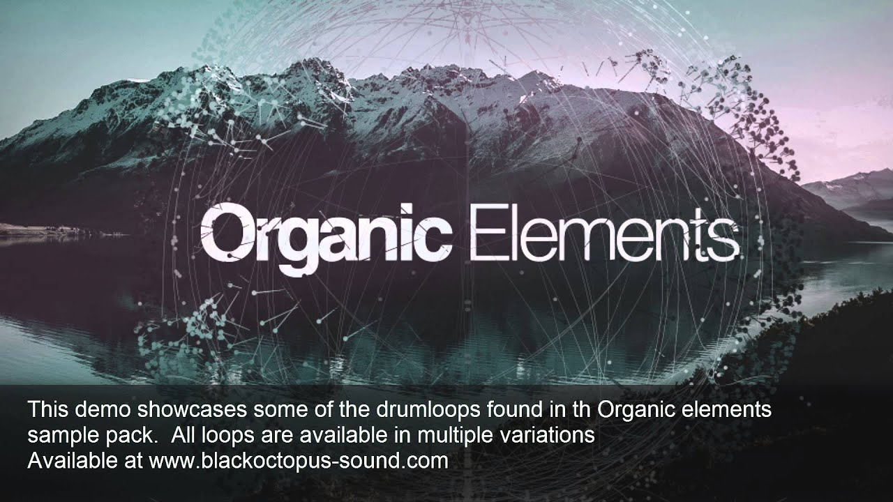 Organic Elements sample pack - Drums demo