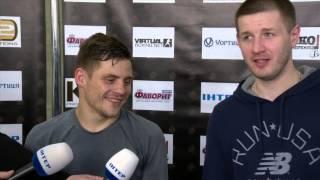 Денис Беринчик и Сергей Ватаманюк. Интервью во время открытой тренировки 14/04/2016