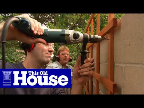 How To Attach A Trellis To A Concrete Wall | This Old House