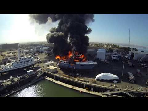 Drone Captures Massive Yacht Fire As $24 Million Boat Is Engulfed In Flames (VIDEO)