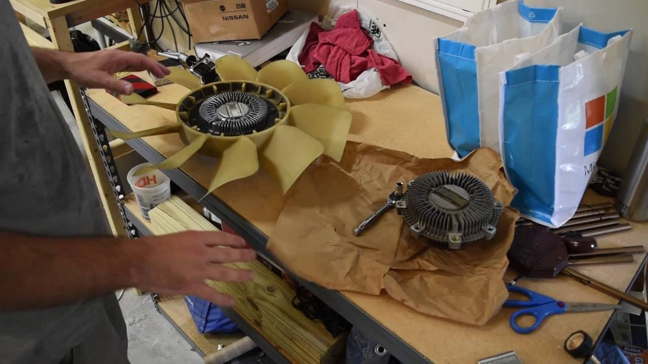 small resolution of repalcing a fan clutch