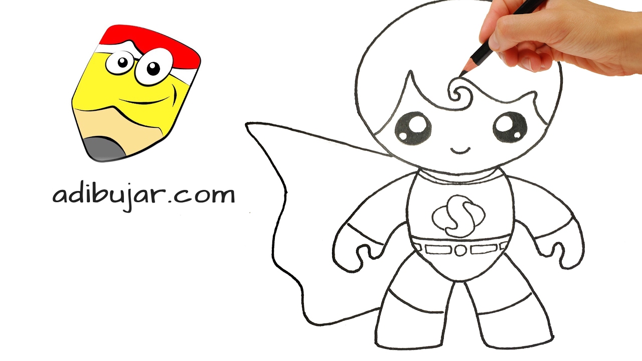 Cómo Dibujar A Superman Kawaii A Lápiz Paso A Paso Superhéroes