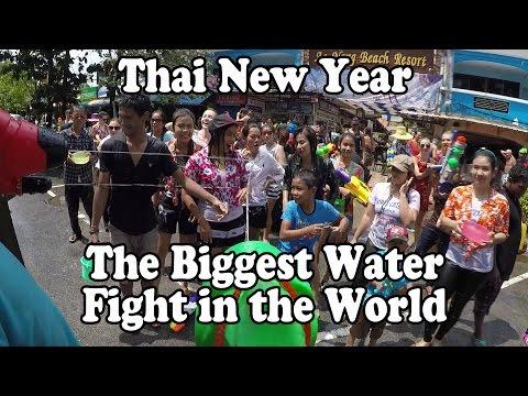 Thai New Year in Thailand. Songkran 2015 Krabi, Thailand สงกรานต์ อ่าวนาง – GoPro HD Ao Nang