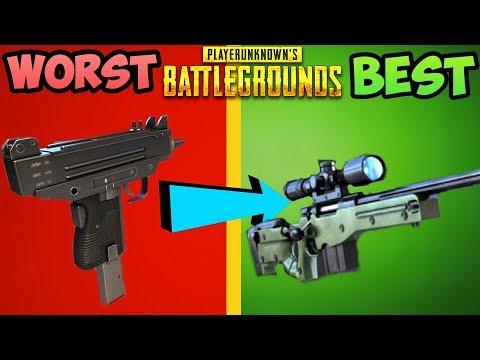 EVERY GUN IN PUBG RANKED FROM WORST TO BEST! - PlayerUnknownsBattleGrounds