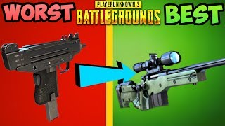 EVERY GUN IN PUBG RANKED FROM WORST TO BEST! - PlayerUnknownsBattleGrounds