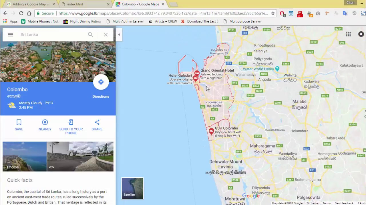 how to show multiple locations on google maps in javascript Sinhala Show Several Locations On Google Maps on