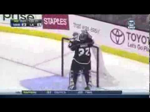 Jonathan Quick Scores A Goal On Himself vs New York Rangers 10/7/13