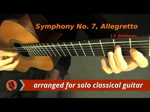 L.V. Beethoven - Symphony No. 7, Allegretto, (classical guitar arrangement by Emre Sabuncuoğlu)