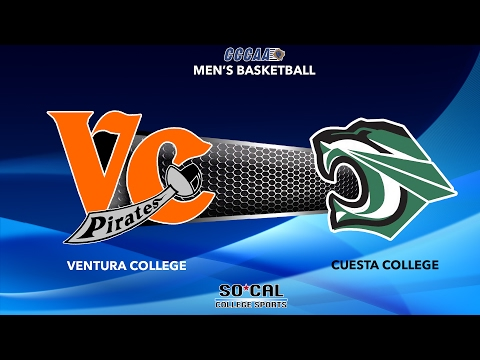 Men's Basketball: Ventura College at Cuesta College, Wednesday 2/8/17 at 5:00PM