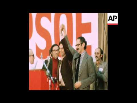 SYND 9 12 76 CLOSING SESSION OF SOCIALIST PARTY CONGRESS