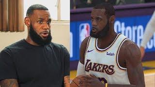 LeBron James Plays NBA 2K19 With Lakers GAMEPLAY (Parody)