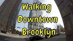 ⁴ᴷ Walking Tour of Downtown Brooklyn, NYC (Jay St, Flatbush Av, DeKalb Market Hall, Barclays Center)