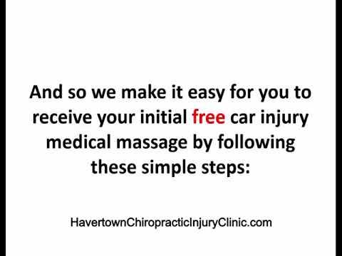 Auto Injury Free Massage, Chiropractor, Havertown Pennsylvania