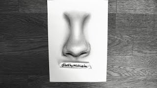 TUTORIAL: How to draw a realistic nose