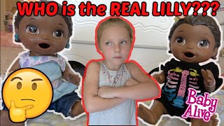 BABY ALIVE has a TWIN! WHO is the REAL LILLY? The Lilly and Mommy Show. The TOYTASTIC Sisters! SKIT!