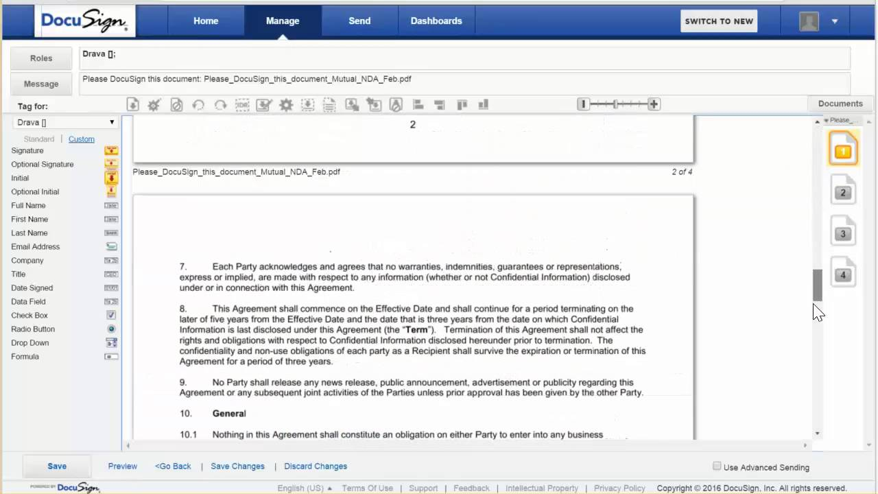 setup docusign template - YouTube