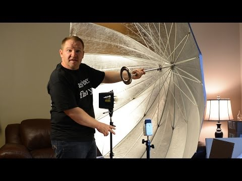 86in Soft Silver PLM Umbrella System by Paul C Buff: Unboxed & First Impressions (AlienBees PLM)