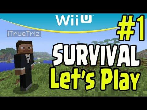 Minecraft Wii U Survival Let's Play Walkthrough Gameplay (Part 1)
