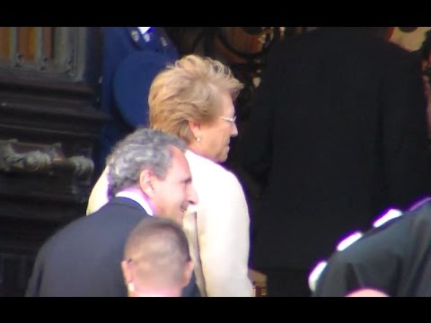 Arrival of Michelle BACHELET president of Chile @ Paris 8 june 2015 La Sorbonne