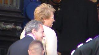 Arrival of Michelle BACHELET president of Chile @ Paris 8 june 2015 La Sorbonne