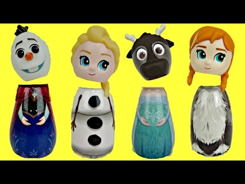 Disney Frozen Bath Containers with Queen Elsa, Anna, Olaf & LOL Surprise Dolls
