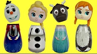 Disney Frozen Bath Containers with Queen Elsa Anna Olaf  LOL Surprise Dolls