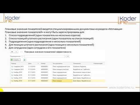 Ролик «Возможности 1С:ЗУП 3.1 КОРП для расчета KPI»