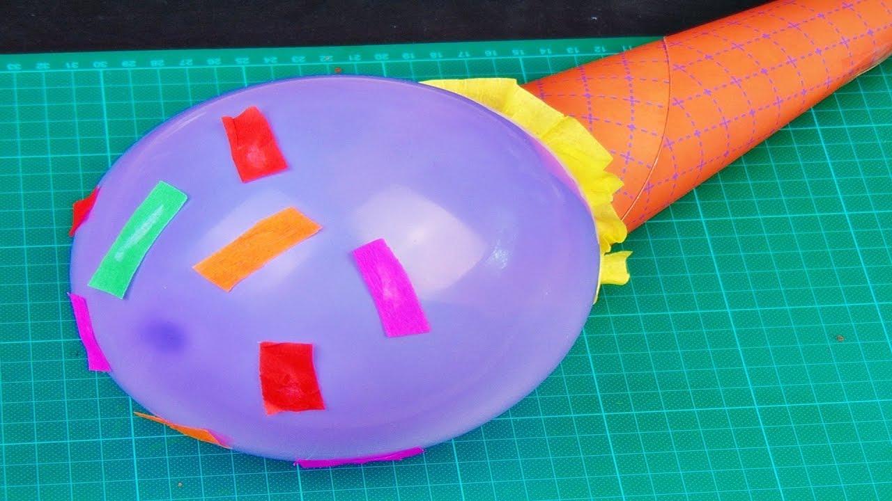 Basteln Eis Aus Papier Und Luftballon Selber Machen Ideen Mit Luftballons Ice Cream Diy