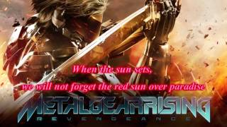Metal Gear Rising OST - Red Sun (Extended + Lyrics)