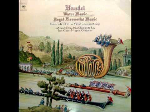 Händel: Orchestral Works (Part 1/3 - Water Music (complete) - J.C. Malgoire)