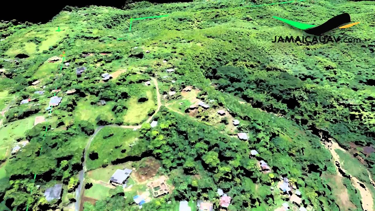 UAV Aerial Mapping Of Acres In St James Jamaica DSM Point - Uav aerial mapping