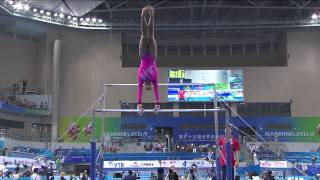 LOCKLEAR Ashton (USA) – 2014 Artistic Worlds, Nanning (CHN) – Qualifications Uneven Bars