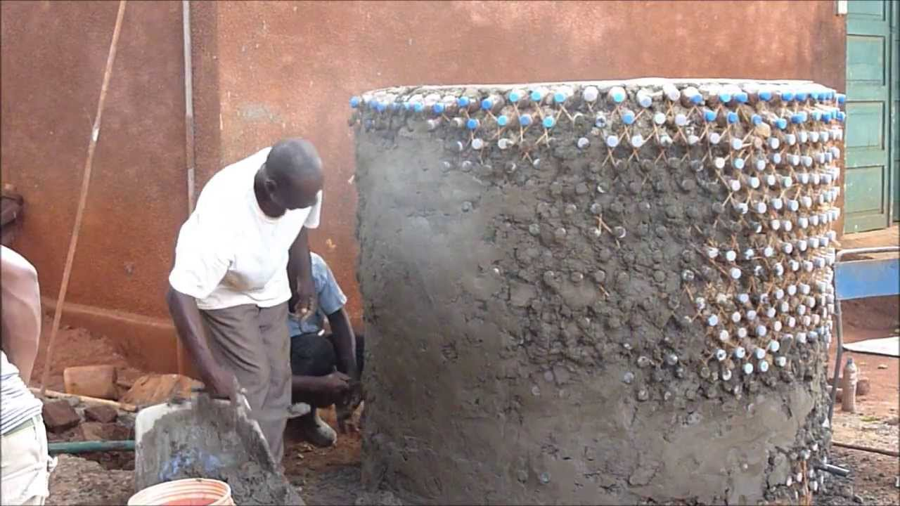 Water Tank Built With Plastic Bottles Youtube