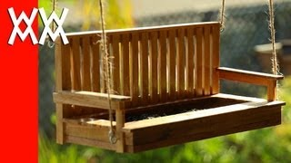 Make A Porch Swing Bird Feeder. Pallet Wood!