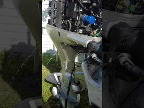 Surging 05 Honda BF225 outboard four stroke