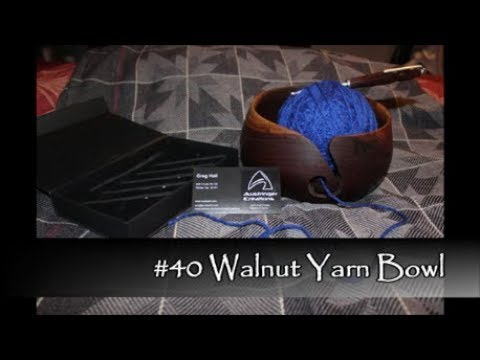 #40 Walnut Yarn Bowl