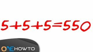 Number Puzzle: One Straight Line - With Answer!