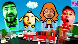 - НОВЫЙ ЧЕЛЛЕНДЖ Кто выше Детки и родители друг против друга Chicken Jump видео для детей kids gamer