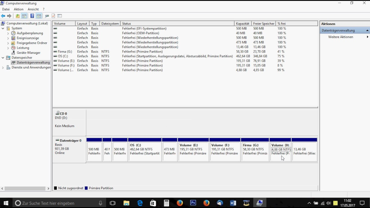 Partition Einer Festplatte Erstellen Windows 10 Deutsch Partitionieren Win10 Create Partition 10